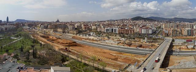 Panorámica de la zona de la futura estación de La Sagrera - 30-03-11