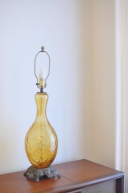 gold vintage lamp