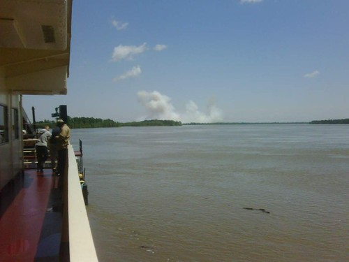 Second blast from lower section of Birds Point