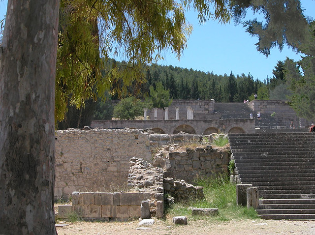 The Temple of Apollo at the Asklepion on the Greek island of Kos