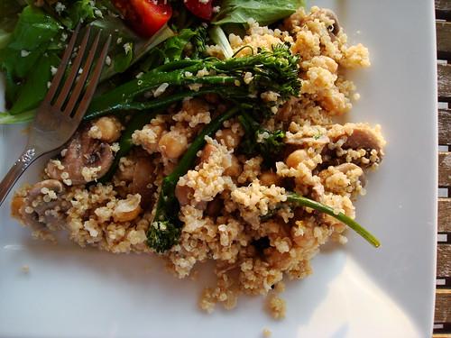 Quinoa with Broccolini, Chickpeas, and Mushrooms