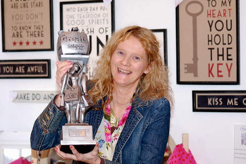 Allison Brook of Tiger Tiger with her award