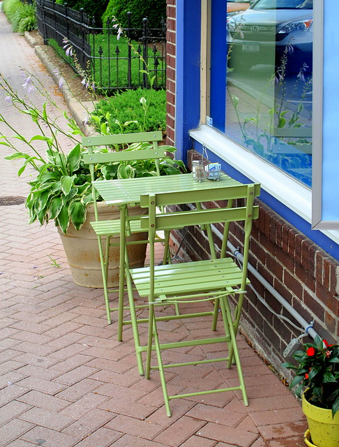 green bistro set