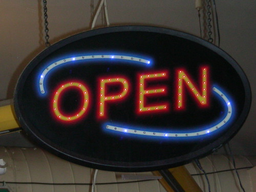 OPEN sign  by Artisan All Unwound