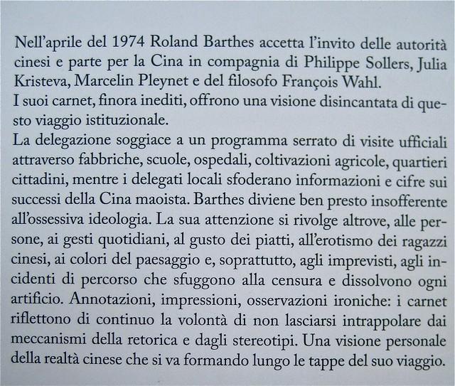 """Roland Barthes, I carnet del viaggio in Cina, ObarraO edizioni 2010; [resp. grafica non indicata], alla cop.: """"Paolo Ferrari, Raddoppio su-figura, 2010; q. di cop. (part.), 2"""