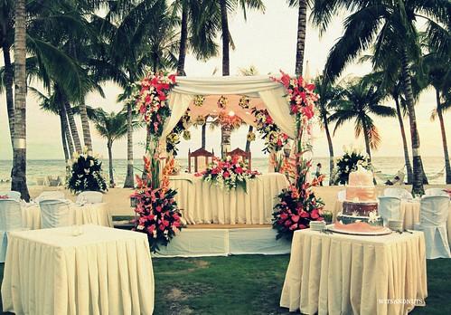 Wedding reception in Bohol Beach Club