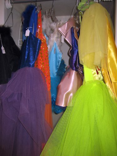 Bright shiny costumes