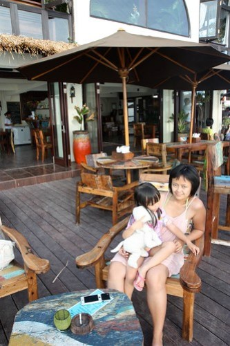 at Single Fin cafe, Blue Point