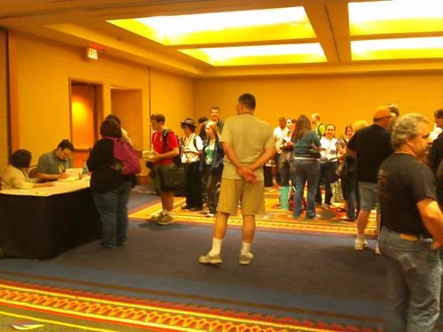 Signing with Brandon Sanderson and Harriet McDougal at JordanCon 2011