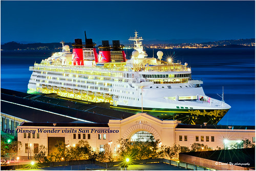 The Disney Wonder visits San Francisco by davidyuweb