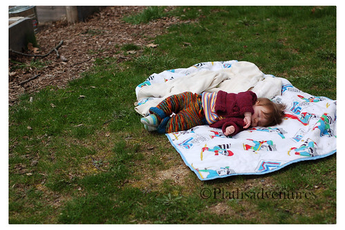 Napping in the garden