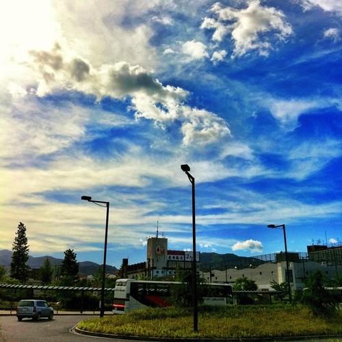 バス停からの景色。#sky