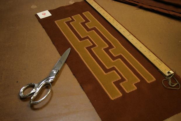 Curtain Applique on Alpaca Fabric