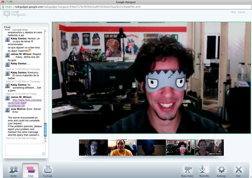 3 hours into G+ hangout (out of 7) #Hangathon