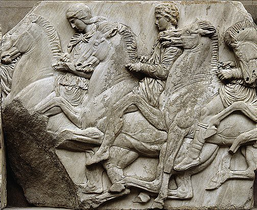 parthenon north frieze horsemen