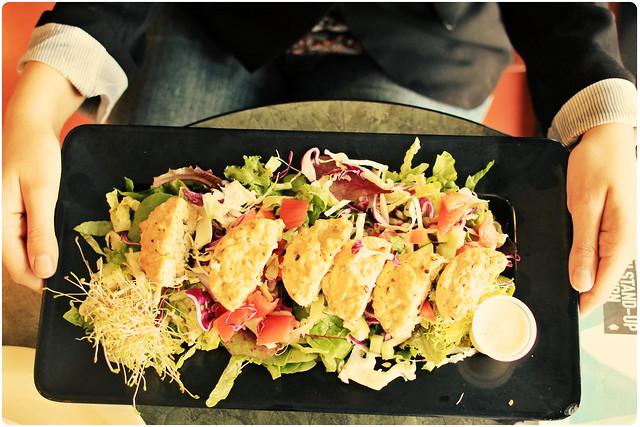 Tofu Quiche Salad