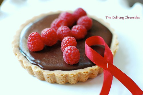 "Chocolate Raspberry Tart inspired by ""World AIDS Day"""