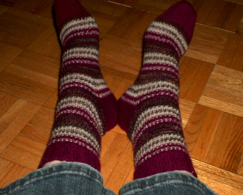 Cranberry Biscotti Socks