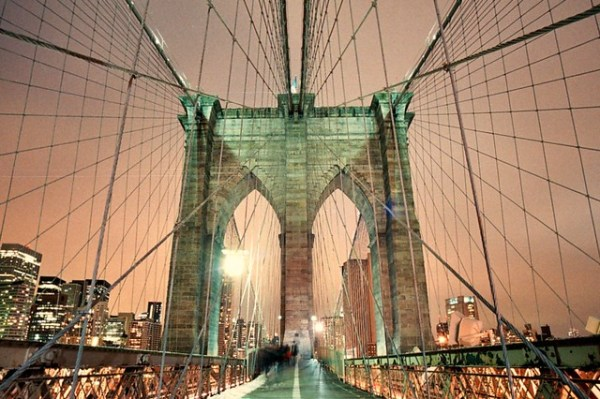 Brooklyn Bridge, Winter Night (Bessa-L)