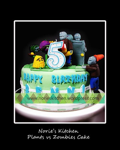 Norie's Kitchen - Plants vs Zombies Cake 4