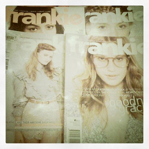 My Cousin Sent Me Four @frankieMagazine - She's Awesome.