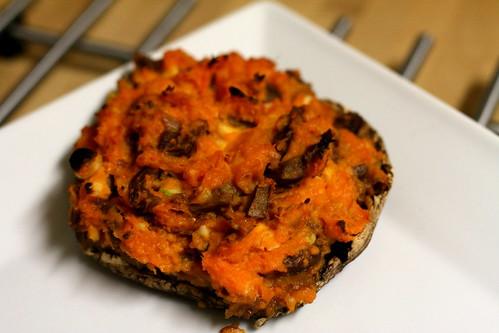 Sweet Potato Stuffed Mushroom