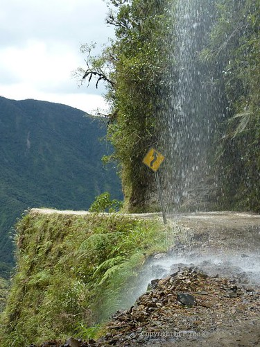 Waterfall and Dropoff Death Road