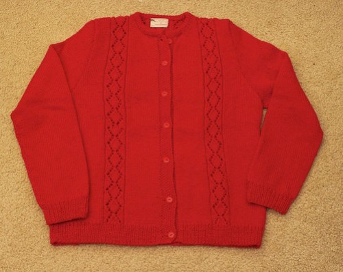 Red Cardi from Grandma Frances