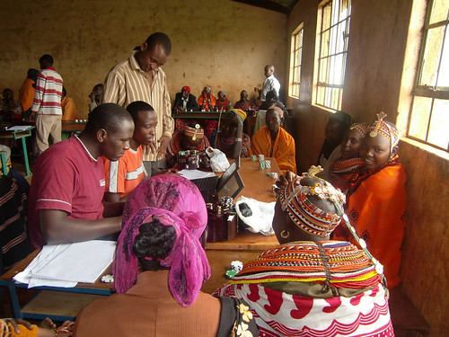 Training livestock herders in Marsabit in new insurance scheme available
