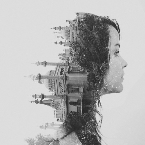 Double exposure // Val // Royal Pavilion, Brighton