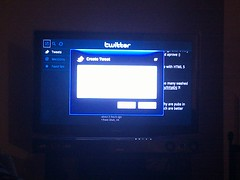 The Twitter app in Google TV / Logitech Revue