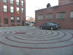 Parking lot labyrinth
