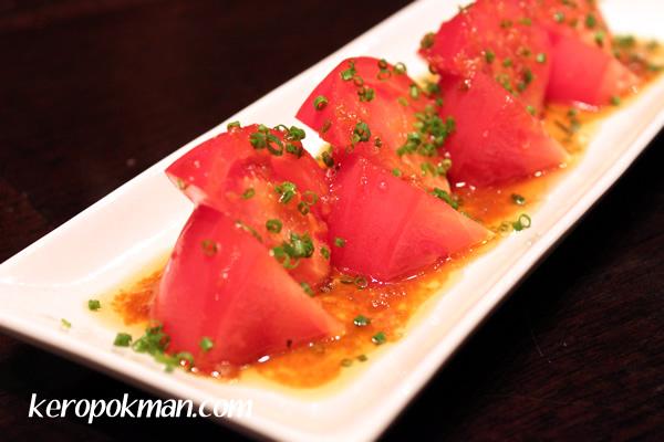 Momotaro Tomato with ginger sesame dressing