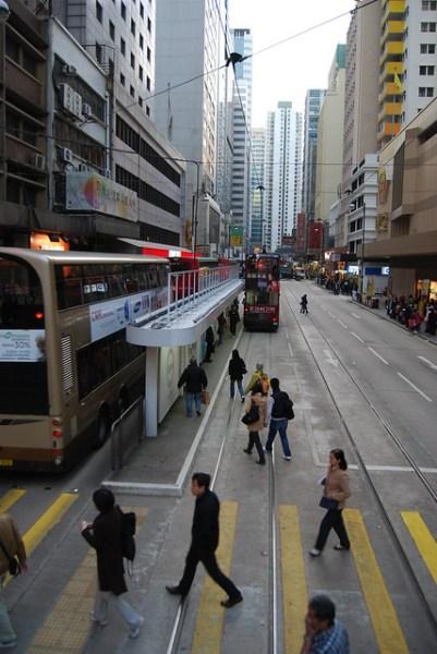 Parada del tranvía de Hong Kong