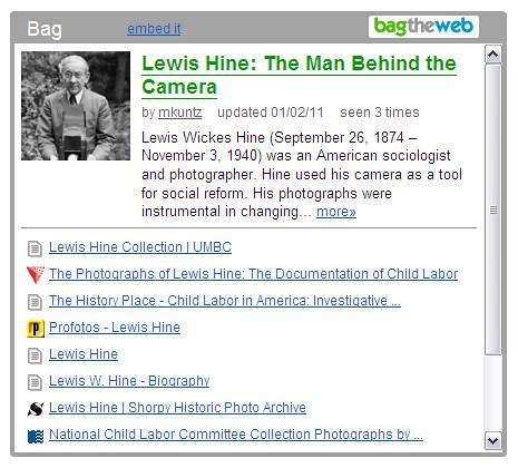 Lewis Hine bag