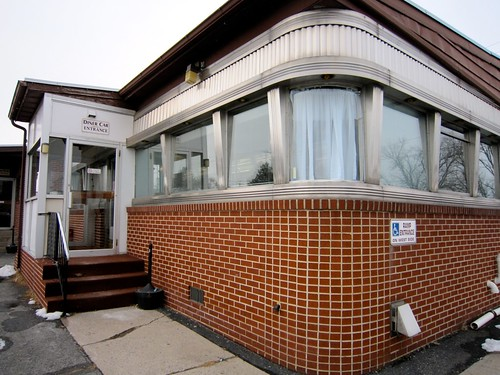 Risser's Diner Exterior Diner Car Entrance