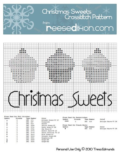 Christmas Sweets Crosstitch