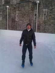 Mark at Tower of London Ice Skating
