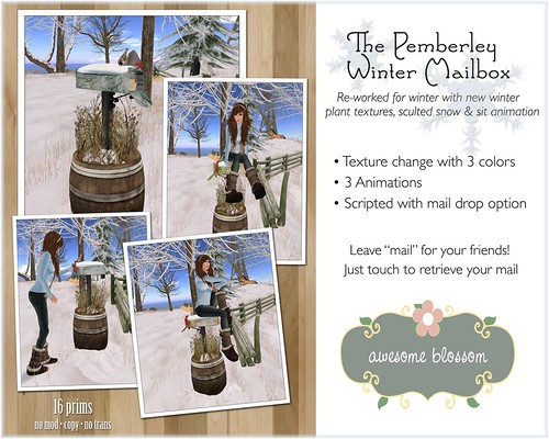 The Pemberley Winter Mailbox