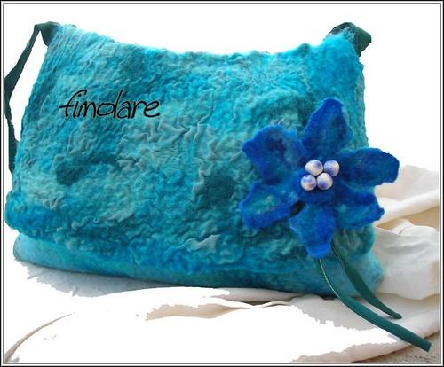nuno Felt Blue Bag