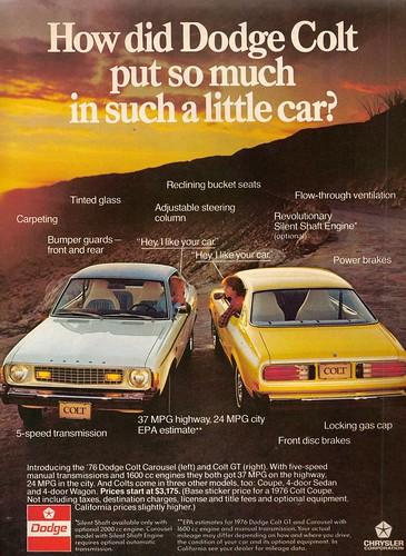 1976 Dodge Colt Ad