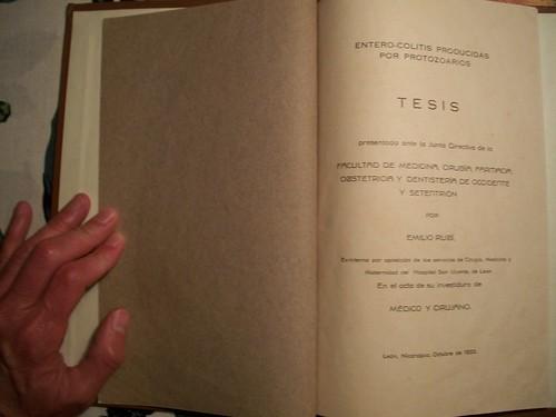 Emilio Rubi Otero's 1933 university thesis