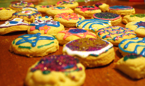 Decorated shortbread