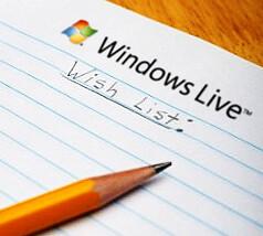 Windows Live wishlist