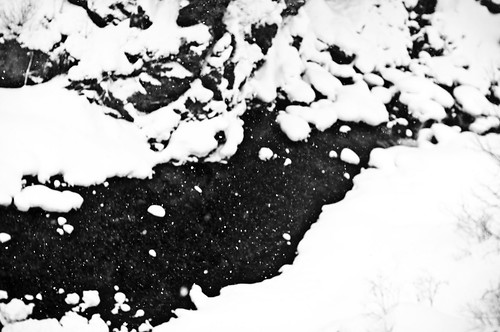 Snow in Japanese mountains