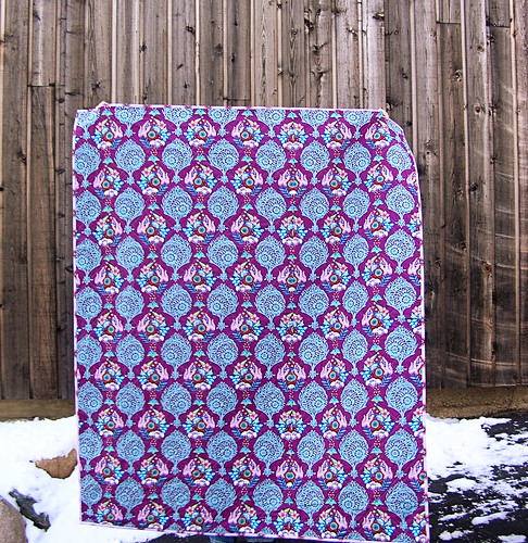Back of the 4-square Innocent Crush Quilt