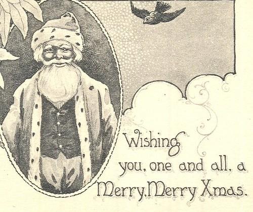 Vintage Black Santa