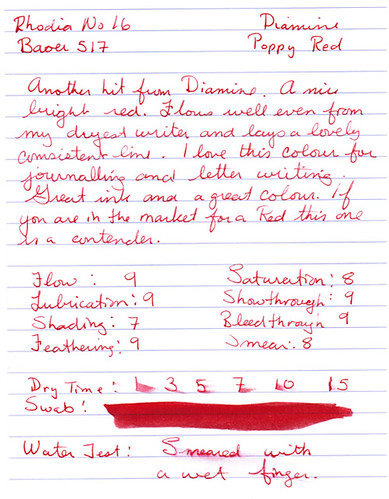 Diamine Poppy Red