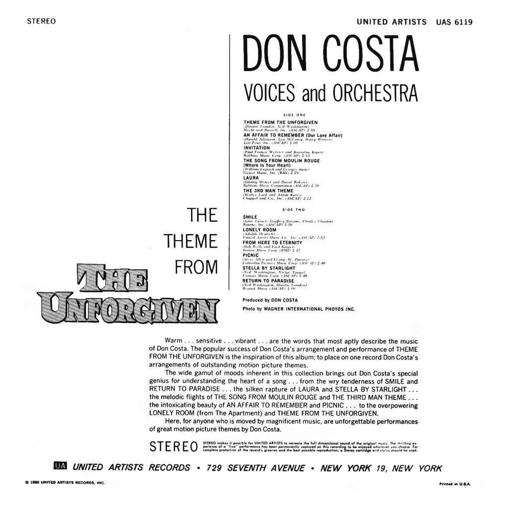 Don Costa - Theme from the Unforgiven