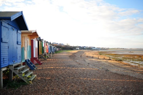 Beach bungalows and huts.